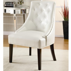 Accent Seating Upholstered Accent Chair with Tufted Button Accents
