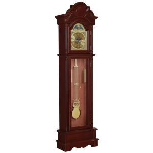 Grandfather Clock Brown Red And Clear