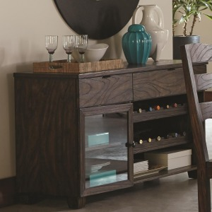 Calabasas Contemporary Server with Removable Wine Rack