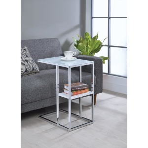 Contemporary Chrome Snack Table