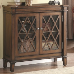 Accent Cabinets Accent Cabinet w/ Lattice Overlay