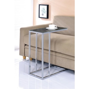 Black Marble and Chrome Accent Table
