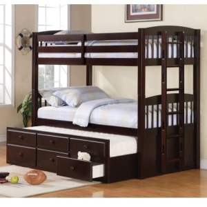 Logan Twin Over Twin Bunk Bed with Trundle Understorage