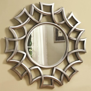 Accent Mirrors Starburst Accent Mirror in Silver Finish