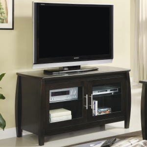 TV Stands Contemporary Media Console with Glass Doors