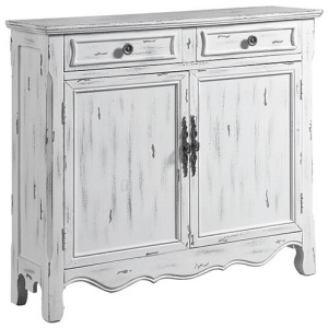 2-Door Accent Cabinet Distressed White