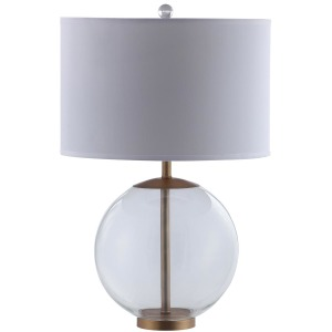 White and Clear Table Lamp