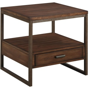 70430 Industrial End Table with One Drawer