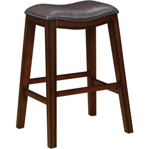 Backless Bar Stools Two-Tone Brown And Burnished Cappuccino (Set Of 2)
