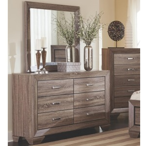 Kauffman Dresser with 6 Drawers and Mirror Set