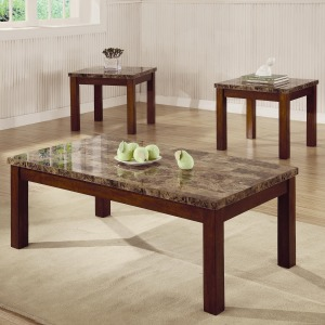 3 Piece Occasional Table Sets 3 Piece Occasional Table Set with Marble Look Top