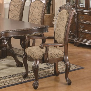 Andrea Cushion Seat And Back Rolled Arm Dining Chair