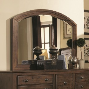Laughton Casual Framed Mirror with Rounded Edge