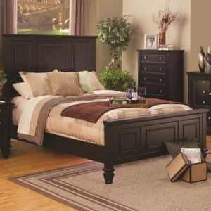 Sandy Beach Classic California King High Headboard Bed