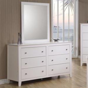 Selena 6 Drawer Dresser & Landscape Mirror
