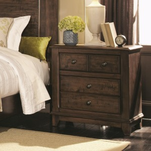 Laughton Casual 2 Drawer Nightstand