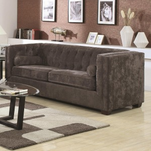 Alexis CH Transitional Chesterfield Sofa with Track Arms