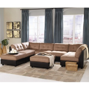 Claude Contemporary Two Tone Sectional Sofa