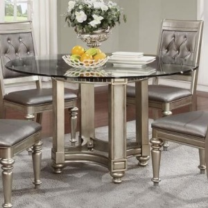 Danette Circular Glass Dining Table