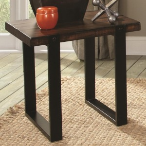 70342 End Table with Two Tone Finish
