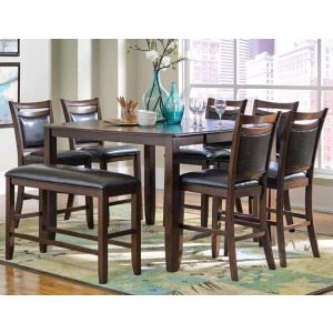 Dupree Casual 8 Piece Pub Table Set with Bench
