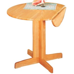 Damen Round Pedestal Table with Leaf