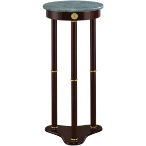Round Marble Top Accent Table Merlot