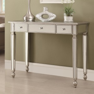 Accent Tables Contemporary Mirrored Sofa Table