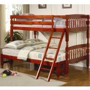 Coral Traditional Twin Over Full Bunk Bed