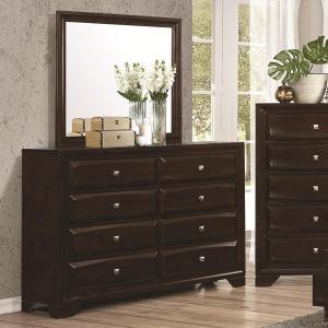 Jaxson 8-Drawer Dresser and Rectangular Mirror Combination