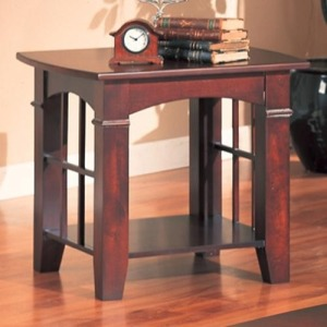 Abernathy End Table with Shelf