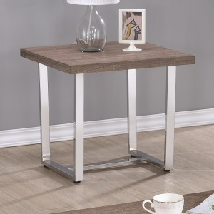 70418 Square End Table with U Shaped Metal Base