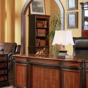 Pergola Open Bookcase with Lower Cabinet Doors