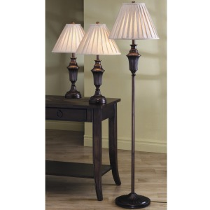 3 Pack Lamp Sets Traditional 3 Piece Lamp Set
