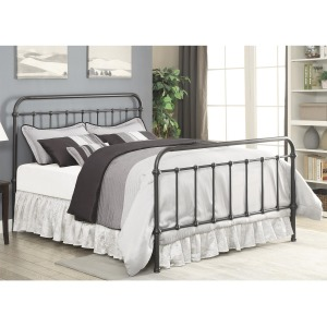 Livingston Transitional Dark Bronze Queen Bed