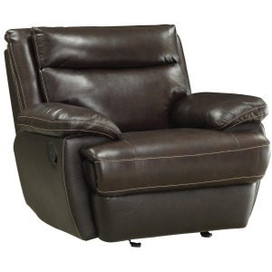 MacPherson Casual Leather Match Glider Recliner