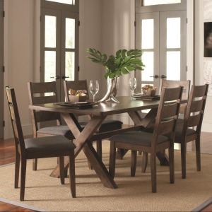 Alston Rustic 7 Pc Table & Chair Set