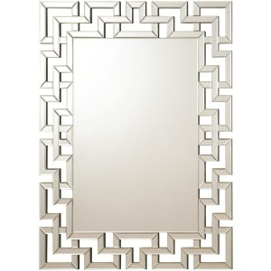 Accent Mirrors Frameless Greek Key Mirror