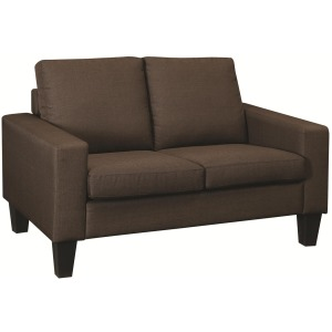 Bachman Love Seat with Track Arms and Tapered Wood Legs