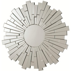 Accent Mirrors Contemporary Round Frameless Mirror