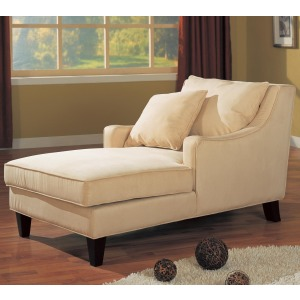 Accent Seating Microfiber Chaise Lounge