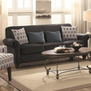 Gideon Graphite Three-Piece Living Room Set