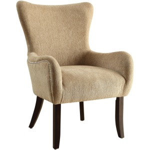 Accent Seating Casual Accent Chair with Contemporary Curves