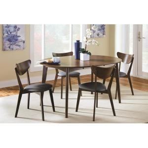Malone Mid-century Modern 5-Piece Solid Wood Dining Set