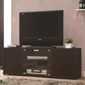 TV Stands TV Console with Push-to-Open Glass Doors