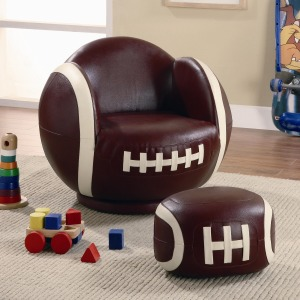 Kids Sports Chairs Small Kids Football Chair and Ottoman