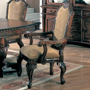 Saint Charles Dining Arm Chair with Upholstered Seat and Seat Back