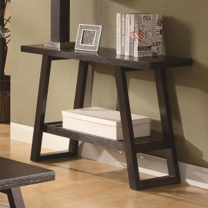 Occasional Group Casual Sofa Table with Slatted Bottom Shelf