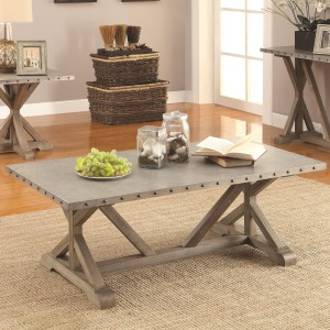 70374 Rectangular Nailhead Trim Coffee Table