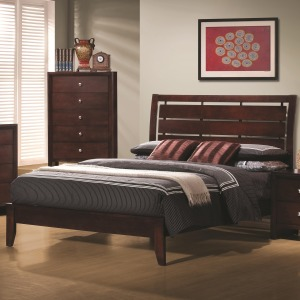 Serenity Queen Bed Rich Merlot